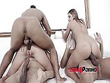 Ally Breelsen & Lola Bulgari Interracial Dap With 3 Massive Cock
