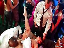 Fiesta Sexual Alocada De Boda Con Una Novia En Ligueros Chupando