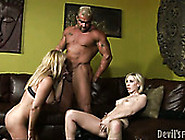 Big Hunk Fucks The Daughter's And Mother's Mouth With His Big To