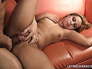Latina With A Big Ass Oils It Up While She Bangs On The Couch