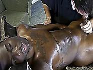 Interracial Massage Table Blowjob Fun