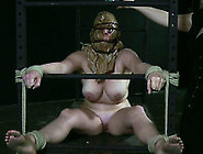 Busty White Hoe Tied Up And Bagged In Dark Bdsm Action