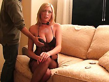 Delightful Blonde Cougar With Big Hooters Is On The Prowl F