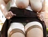 Wife Flashes Big Milky Tits Outdoor