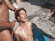 Desperate Bitch Getting Screwed Bad In Dirty Gangbang Session