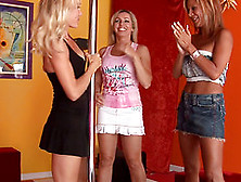 Hot Foursome Encounter Featuring Trio Of Sassy Milfs Sharing A H