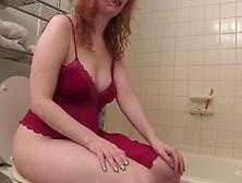 Redhead Toilet Poop Plopping