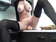 Amazing Shaved Busty Makes Her Pussy Wet