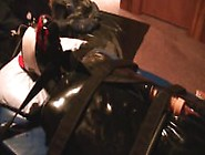 Bondage Tails #2: Rubber Puppy Cock Electrified And Milked