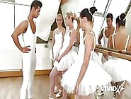 Slutty Ballerinas Blows A Cock