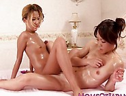 Japanese Lesbian Milf Tribbing With Babe