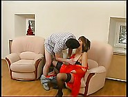 Super Horny Housewife In Red Dress Is About To Fuck A Guy Who Is