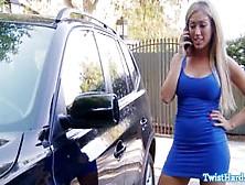 Pornstar Babe Catches Guy Snif Her Undie