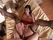 Hardcore Milf Alia Janine Titty Fucks A Hard Cock And Gets