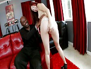 Redhead Latina Is Opening Her Pussy Lips To A Horny Black Man