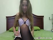 Teen Cam Girl Is Naughty In Nylon Stockings