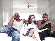 Two Rough Black Dudes Show A Teen What Big Black Cocks Are All A