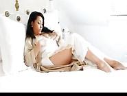 Danica Collins In A White Nightgown