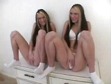 Twins Touching Their Pussies