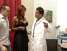 Kymora Lee Gets Fucked By A Lewd Doctor In The Presence Of Her H