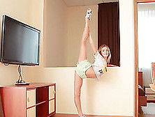 Flexible Teen Gymnast Stretching Her Body In Incredible Contorti