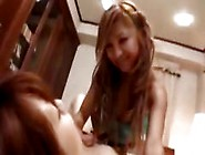 Two Asian Lesbians Play Slave And Mistress And Eat Wet Pussy