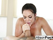 Brunette Alison Tyler Gives A Sexy Blow Job