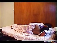 Big Boobed Indian Teeny Has Oral And Cowgirl Sex On The Bed
