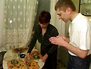 Mature Mom Banged By Her Boyfriend And Friends In The Kitchen By