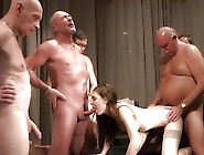 Young Teen Slut Gets Fucked By 5 Older Cock