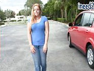 Candi Apple Wetting Her Jeans And Panties Omorashi