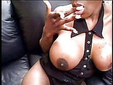 Black Porn Kitten Banged On Sofa