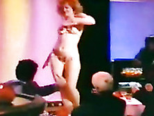Torrid Curly Light-Haired Stripper Shows A Real Performance