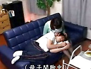 Japanese Stepmom Fucked By Son Behind Father.