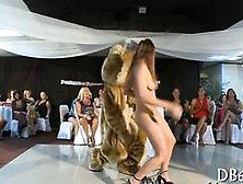 Amateur Babe Dancing Her Ass Off With The Dancing Bear