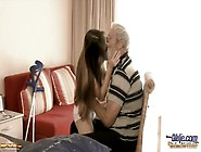 Teen Tina Blade Blows Old Mans Cock