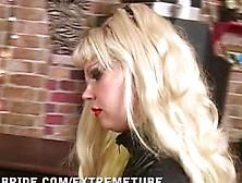 Crossdresser Gets Strapon By Femdom