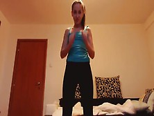 Girl Exercises While Pooping
