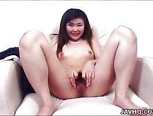 Lovely Teen Asian Biatch Plays With Hairy Pussy