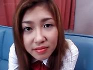 Nasty Asian Schoolgirl Rubs Snatch With Undies Upskirt