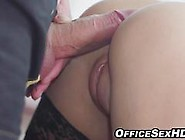 Stunning Office Babe In Heels And Stockings Fucks Repair Man