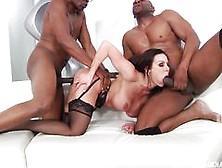 Stocking Clad Kendra Lust Fucked In Threesome