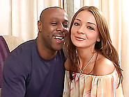 Ana Lets A Black Stud Fuck All Her Holes In Amazing Interracial
