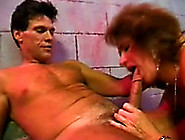 Mature Lady Gives Two Blowjobs To Horny Men And Fucks Them