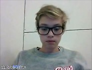 Danish 18Yo Teen Blond Boy With Glasses (Hairy Cock And Smooth A