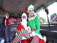 Young Blondie In Elf Costume Fucked By Santa