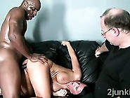 Perv Makes His Gorgeous Brunette Wife Fuck Black Thug