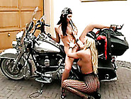 Evelyn Lory Fucks Her Gf Silvia Saint On On Motor Bike