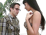 Black Haired Babe,  Anissa Kate Gave A Nice Titjob To A Nerdy Guy