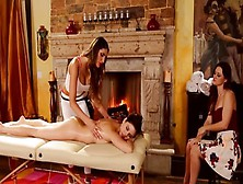 Brunette Porn Video Featuring Karlie Montana,  Shyla Jennings And